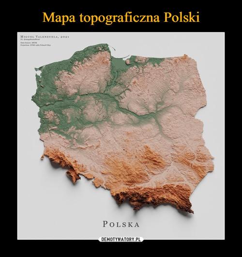 Mapa topograficzna Polski