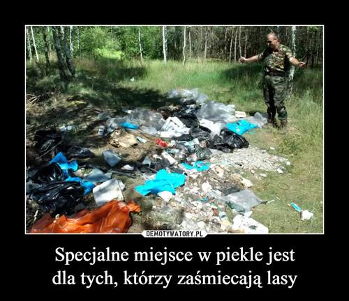 Specjalne miejsce w piekle jest dla tych, którzy zaśmiecają lasy