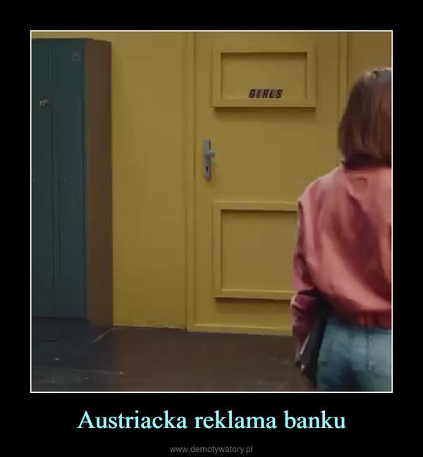 Austriacka reklama banku –