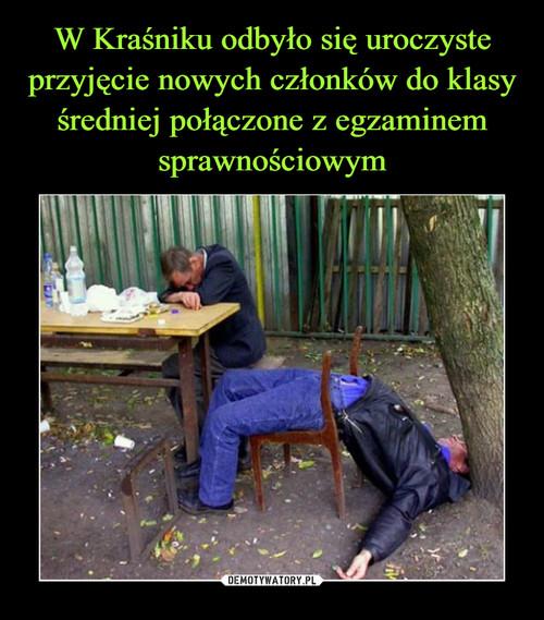W Kraśniku odbyło się uroczyste przyjęcie nowych członków do klasy średniej połączone z egzaminem sprawnościowym