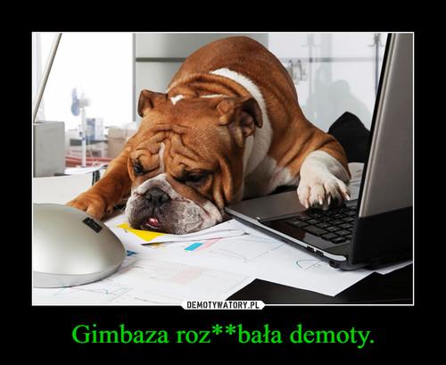 Gimbaza roz**bała demoty.