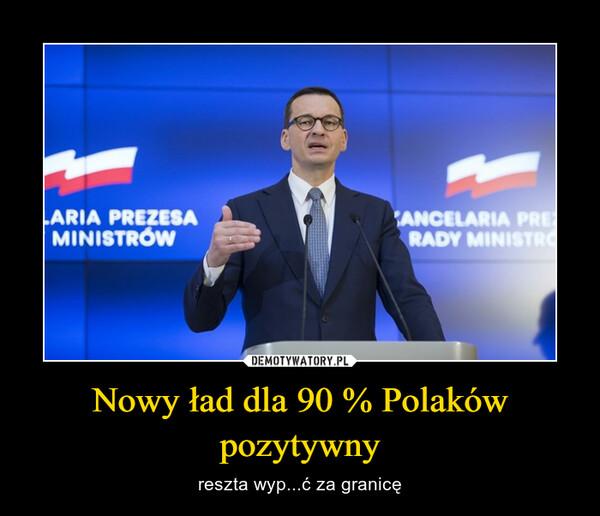 Nowy ład dla 90 % Polaków pozytywny – reszta wyp...ć za granicę