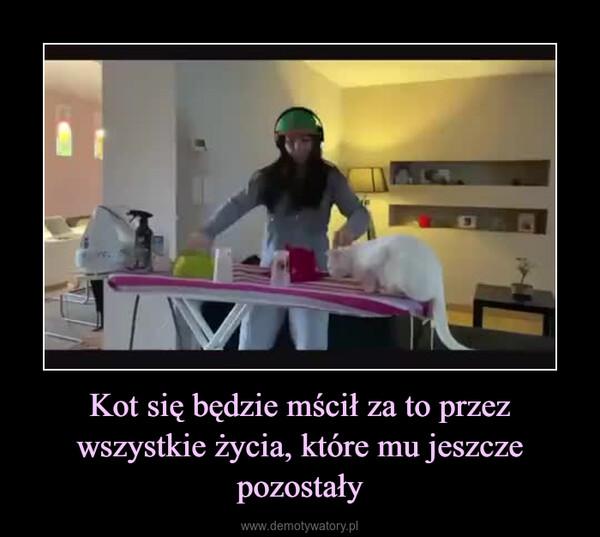 Kot się będzie mścił za to przez wszystkie życia, które mu jeszcze pozostały –
