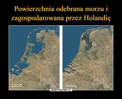 Powierzchnia odebrana morzu i zagospodarowana przez Holandię