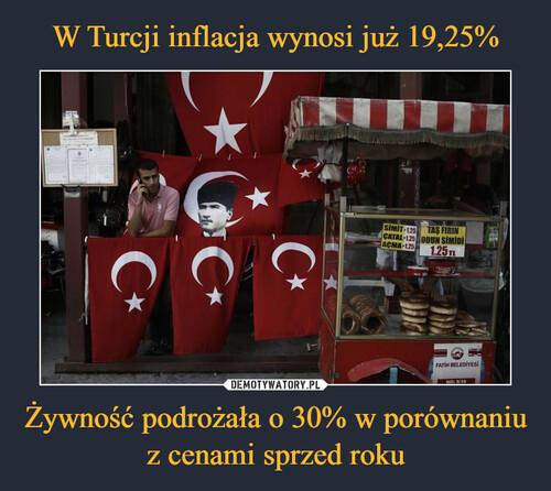 W Turcji inflacja wynosi już 19,25% Żywność podrożała o 30% w porównaniu z cenami sprzed roku