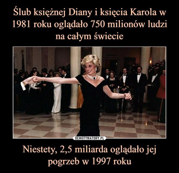 Niestety, 2,5 miliarda oglądało jej pogrzeb w 1997 roku –