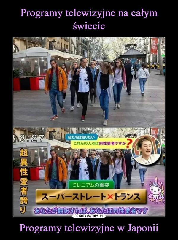 Programy telewizyjne w Japonii –